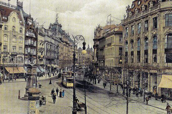 Frankfurt, Die Zeil von der Hauptwache aus, 1906 RM53
